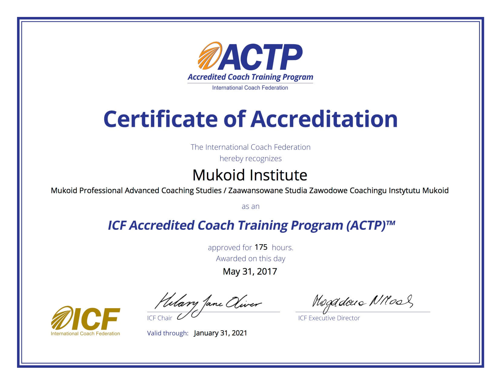 Ewa Mukoid UAT mukoid studia coachingu certyfikat coachingu coaching understand accest the tools team coaching